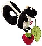 sigikid, Mädchen und Jungen, Aktiv-Anhänger mit Rassel, Stinktier, Schwarz/Weiß/Rot, 41012