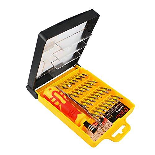 Kit de tournevis de précision multifonction 32 en 1 pour réparation d iPhone smartphone montre avec étui