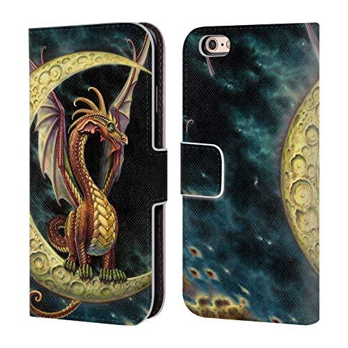Head Case Designs Ufficiale Myles Pinkney Drago Luna Mitologico Cover in Pelle a Portafoglio Compatibile con Apple iPhone 6 / iPhone 6s