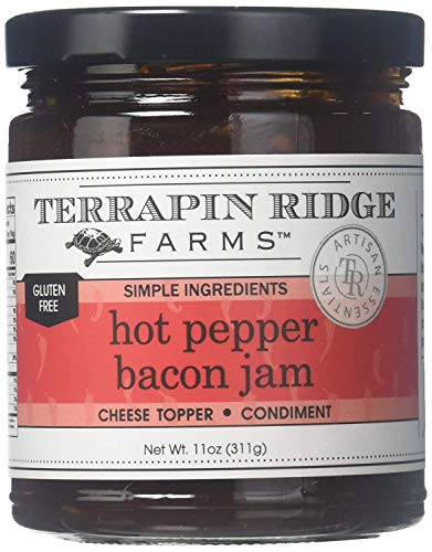 Hot Pepper Bacon Jam by Terrapin Ridge (11 ounce) - PACK OF 3