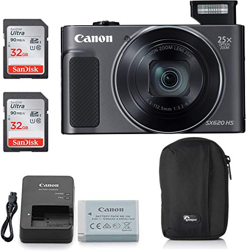 Canon PowerShot SX620 Digital Camera Black Classic Bundle