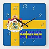 Kysd43Mill - Reloj de pared para pared, diseño de bandera sueca, diseño de bandera sueca