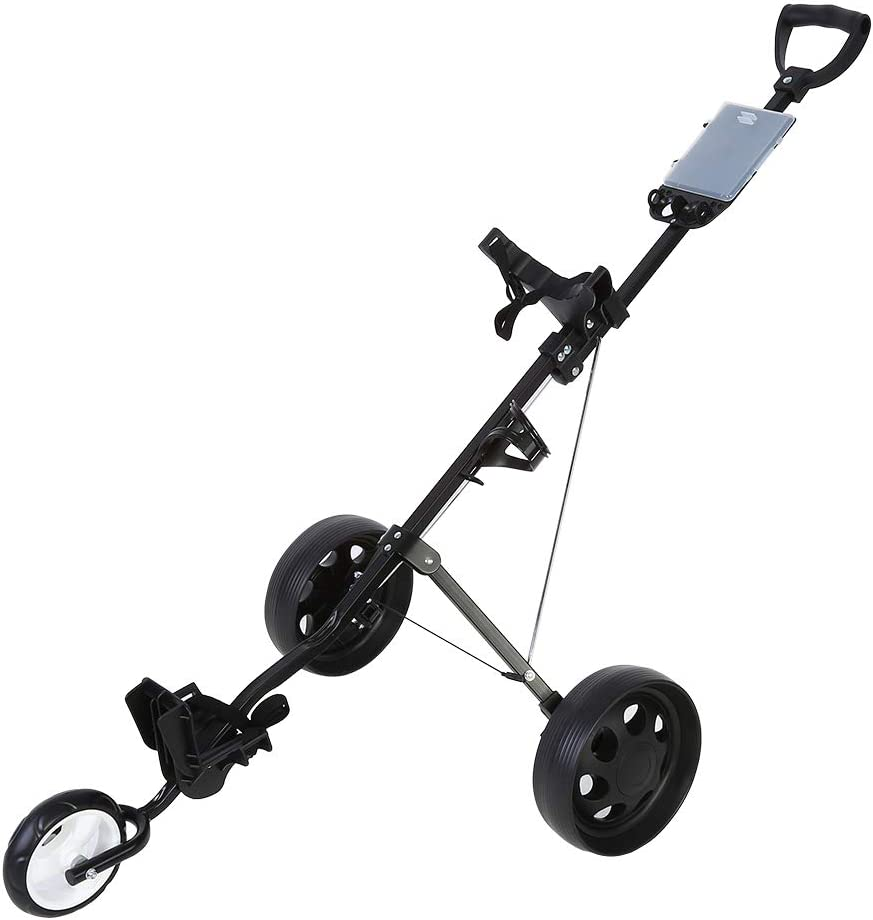 LIUTT Golf Max 69% OFF Trolley -Durable Foldable Push NEW before selling Trol Cart 3-Wheel