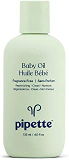 Pipette Baby Oil with Renewable Plant-Derived Squalane (4.5-Fluid-Ounce)