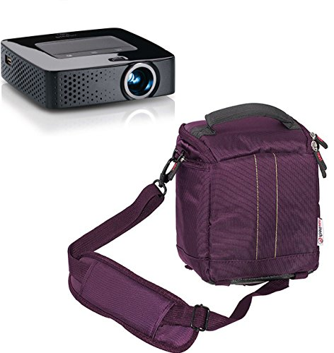 Navitech Purple Protective Portable Handheld Pocket Projector Carrying Case and Travel Bag Compatible with The Ezapor GM60