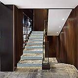 calcomanía decorativo de vinilo para escalera, diseño geométrico, efecto 3D con cubos apilados, estilo S, decoración del hogar, decoración de escaleras, calcomanías de azulejos de 39,3 x 19,08...