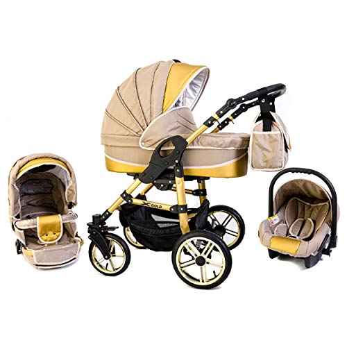 Tabbi ECO X GOLD | 3 in 1 Kombi Kinderwagen Luft Beige