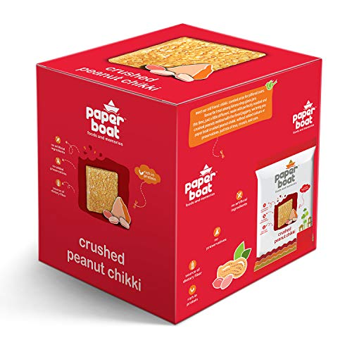 Paper Boat Crushed Peanut Chikki, No Added Preservatives and Colours (Pack of...