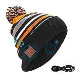 Powcan Auricular Bluetooth, Gorro Bluetooth Unisex con Audífono Inalámbrico, Bluetooth Beanie Compatible con Música y Llamadas, Recargable, Regalos Originales para Hombre