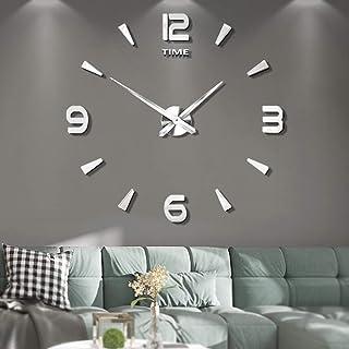 comprar comparacion VANGOLD DIY Reloj de Pared sin Marco Espejo Grande 3D Sticker-2 años de garantía (Plata-73)