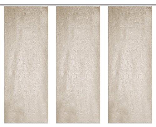 HOME WOHNIDEEN Raumteilerset Aus Blickdichtem Dekostoff Digitaldruck Oliverio 3Er Set 3 x 245 x 90 cm Beige
