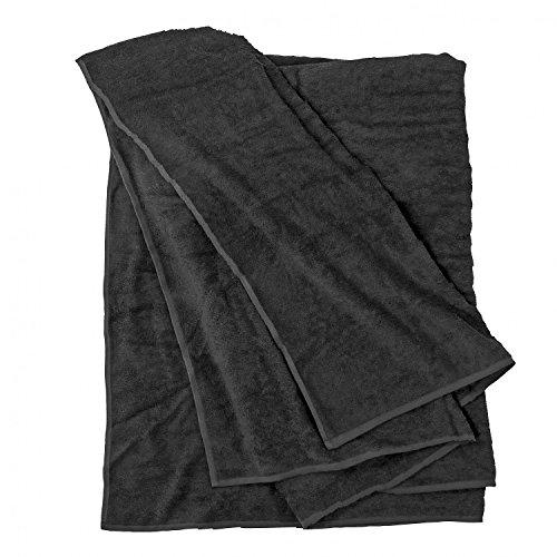 Toalla de playa, negro en grandes Tamaños hasta 155 x 220 cm...