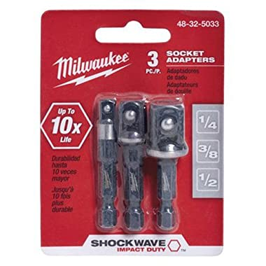 MILWAUKEE ELEC TOOL 48-32-5033 3 Piece 1/4  He x Adapter Set