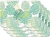 Venilia Palm Tree Stampate Tavola, Tovaglietta per Sala da Pranzo, a Prova di Cibo, 4 Pezzi, 30 x 450 cm, 59107, 30 x 45 cm