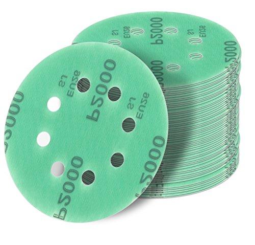 125 mm green Exzenter Schleifscheiben Sortiment SET 25 Scheiben P2000 P1500 P1200 P1000 P800, 8 Loch Klett Schleifpapier