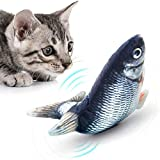 Mondetech Upgraded Flipping Flopping and Wiggling Fish Cat Toy, 3 Motion Activated Modes, Built-in 350mAh Large Battery for Long Time Playing, Enhanced with Battery Safety Chips Etc (Grass Carp)