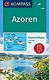 Carta escursionistica n. 2260. Azoren 1:50.000 8set di 2 carte): 2 Wanderkarten 1:50000 im Set inklusive Karte zur offline Verwendung in der KOMPASS-App.