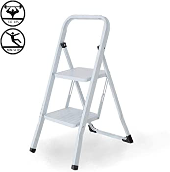 Livebest 2 Steps Folding Ladder 300lbs Capacity
