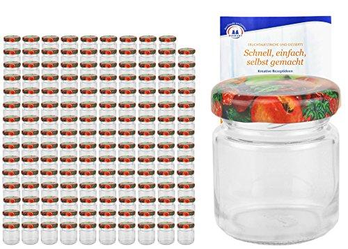 Guirlande lumineuse Kit rond Verres 53 ml Couvercle couleur décor de fruits To 43 avec diamant gelier magique recettes