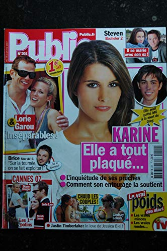PUBLIC 201 2007 Karine Grégory Lemarchal Cover + 2 p. - Lorie & Garou - Anne-Laure Star Ac