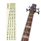 Bass Guitar Fretboard Note Map Decals/Stickers,4-string Bass Guitar Fingerboard for Beginner
