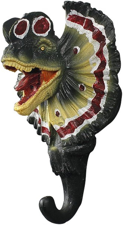 ARTGENIUS Dinosaur Wall Hook,3D Decorative Key Hook (Dilophosaurus)