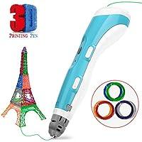 Pluma de impresión 3D Gifort Pluma 3D inteligente para Doodle Drawing Art Obra hecha a mano Impresora 3D Art Craft Drawing, DIY, Compatible con 1.75mm PLA y filamento ABS