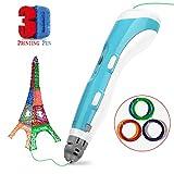 Gifort 3D Penna Stampa, 3D Pen da Disegno Compatibile con Filamento in ABS PLA, 10 Livelli velocità Regolabili, Artigianato Kit Fai da Te Regalo di Natale Giocattolo Creativo per Bambini e Adulti