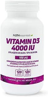 Vitamina D3 de HSN Essentials 4000IU (100 mcg) - Colecalciferol – Absorción de Calcio