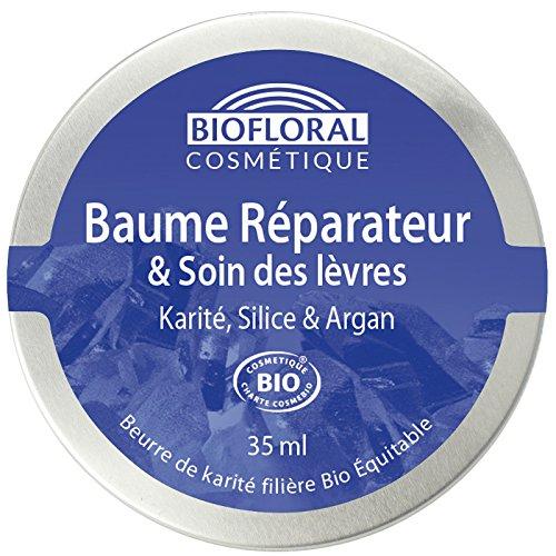 Biofloral Baume Réparateur/Soin des Lèvres Karité 35 ml - Lot de 8