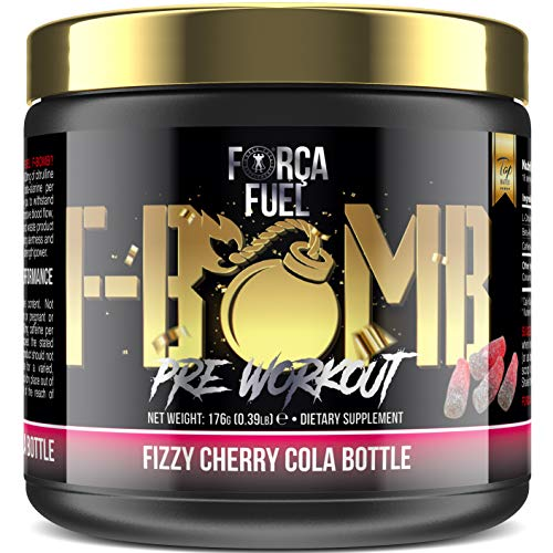 Pre Workout | Build Muscle | Burn Fat | Increase Strength & Performance | Enhance Focus | Reduce Fatigue | 250mg Caffeine | 6,000mg L-Citrulline | 3,500mg Beta-Alanine | Fizzy Cherry Cola Bottle