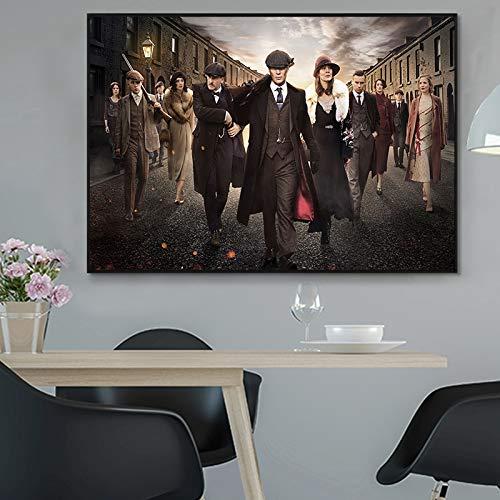 PLjVU Carteles e Impresiones Carteles de programas de televisión película Arte de Pared Cuadros Sala de Estar Lienzo Pinturas-Sin marco40X60cm