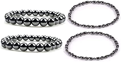 Dr. Kao® 2 Pack Magnetic Therapy Anklet Bracelet Plus 2 Pack Magnetic Bracelet for Women Magnetic Bracelets for Arthritis ...