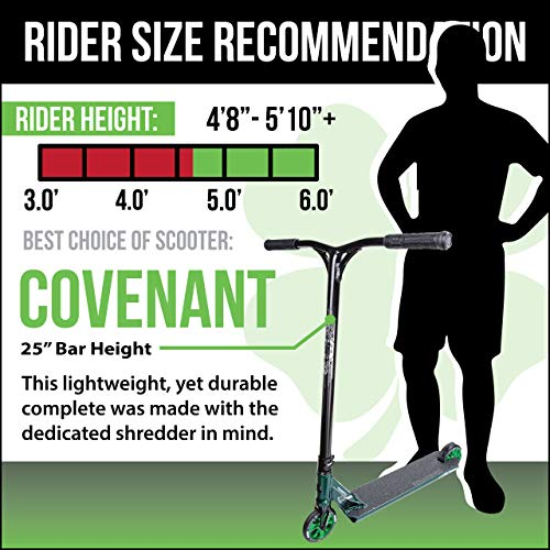 Lucky Covenant Complete Pro Scooter - Best Trick Scooter for Intermediate to Advanced Riders, NeoChrome