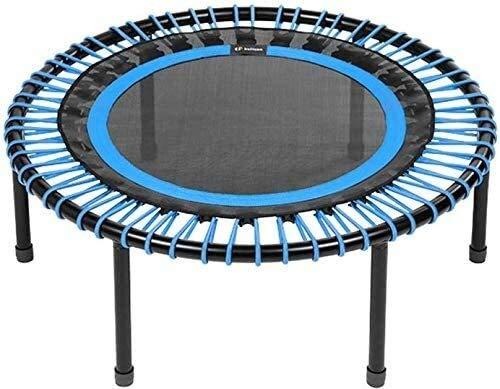 YAOJIA Indoor trampoline Trampoline For Kids 40 Inch| Classic Rebounder Indoor Trampoline Screw-in Legs Blue, Medium Bungees (60-90kg