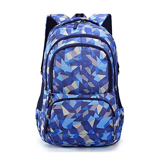 Mochila Escolar Impermeable, niña Escuela Secundaria Linda Mochila Escolar Modelo Femenino Diamante Gran Capacidad (Color : Azul, Tamaño : Grande)