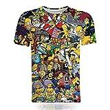 Aatensou The Simpsons T-Shirt Jungen Mädchen 3D-D