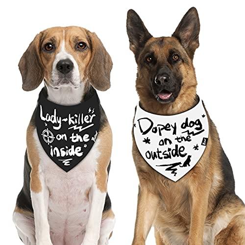 Petotw - 2 pañuelos para Perros, Divertidos pañuelos para Perros, diseño de diálogo único para Bodas, Fiestas y cumpleaños, Varios tamaños Premium Disponibles para Perros y Gatos