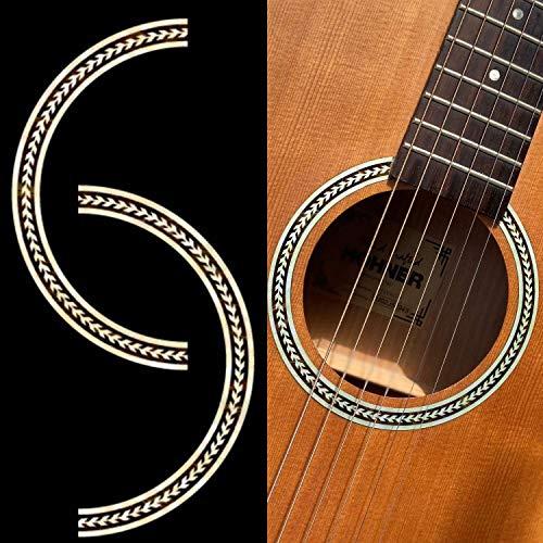 Inlaystickers für Akustische Gitarren - Schallloch Rosette/Purfling - Fischgrätenmuster, RS-243HE