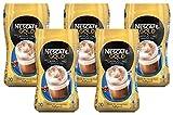 NESCAFÉ Gold Typ Cappuccino Weniger Süß, löslicher Bohnenkaffee aus erlesenen Kaffeebohnen, koffeinhaltig, mit extra viel Schaum, 5er Pack (5 x 250 g)