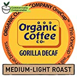 The Organic Coffee Co. Gorilla DECAF 36 Ct Natural Water Processed Medium Light Roast Compostable Coffee Pods, K Cup Compatible including Keurig 2.0