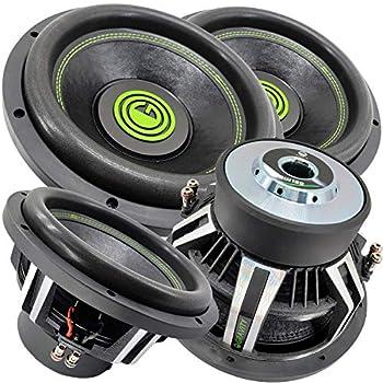 Pair of Gravity Warzone 12 Inch 6000 Watt Car Audio Subwoofer w/ 4 Ohm DVC Power  2 Woofers