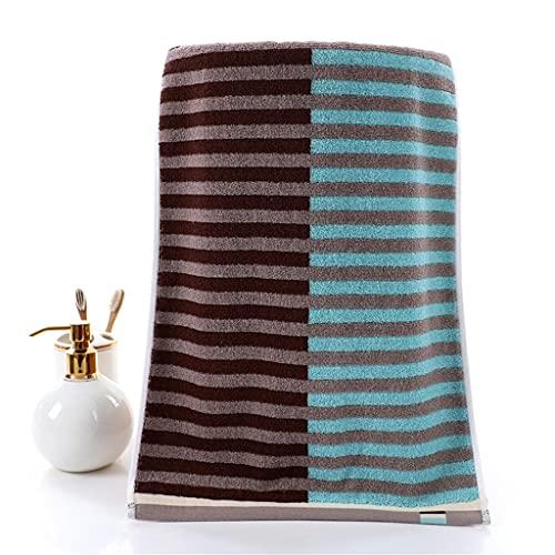 SSMDYLYM 1 Pedazo de algodón Puro Toalla de Moda Jacquard Dark Grueso Grueso Cara Adulta Pareja Pareja Toalla Suave y Absorbente (Color : B, Size : 34 * 74cm)