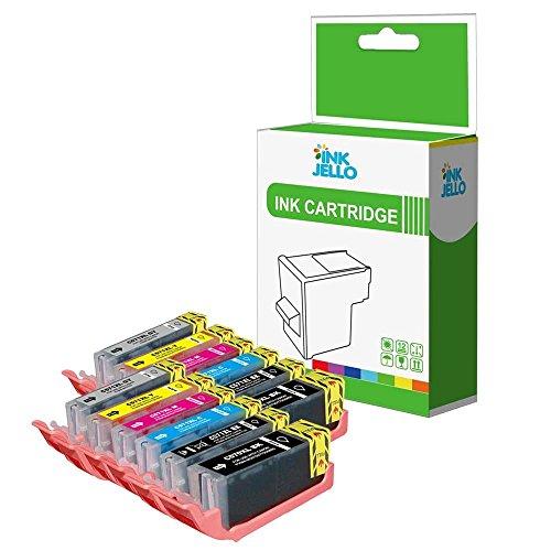 InkJello Compatible Tinta Cartucho Reemplazo para Canon Pixma MG7750 MG7751 MG7752 MG7753 TS8050 TS8051 TS8052 TS8053 PGI570/CLI571 (Negro/Photo-Negro/Cian/Magenta/Amarillo/Grey 12-Pack)