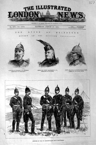 1881 OFICIALES ABERDEENSHIRE MORISON MACPHERSON DOUGLAS