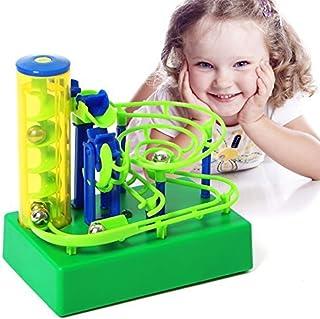 【 Alnair 】 ビーズコースター 電池式 玉転がし おもちゃ 子供 くるくる タワー 知育玩具 幼児 誕生日 クリスマス プレゼント (マルチカラー)