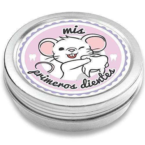 FANS & Friends Caja para dientes de leche para niños y niñas, e-book gratis incluido, Caja para guardar los dientes de bebés, el Ratoncito Pérez (rosado)