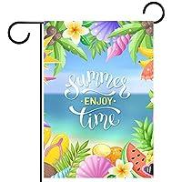 ガーデンフラッグ庭の旗、庭の装飾家の旗屋外装飾バナービーチパーティー 垂直28x40インチ