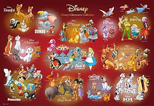 テンヨー ジグソーパズル ディズニー Disney Characters Collection 1000ピース (51x73.5cm)