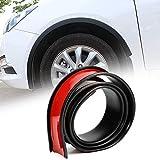 ALAVENTE Car Wheel Tires Eyebrow Strip 2 Pcs Universal Car Wheel Fender Flare Eyebrow Arch Trim Lips Strip 55mm / 2.16 inch Extension Moulding Protector (2.16×59 inch)
